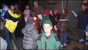Eddie Davenport and the kids who sang for us