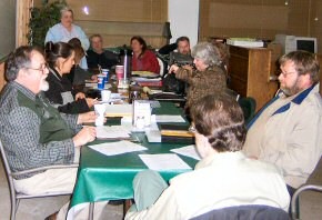 Participants at the evening meeting.
