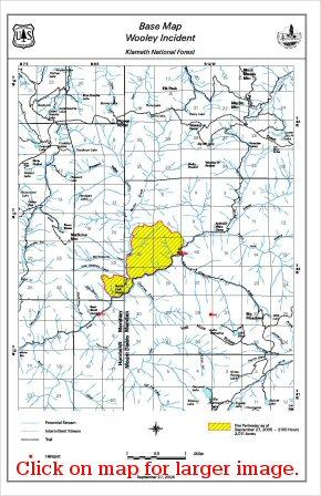 Wooley Fire Map