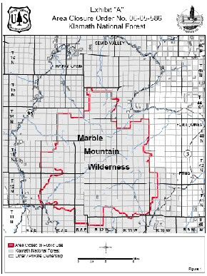 Marble Mountain Wilderness Closed